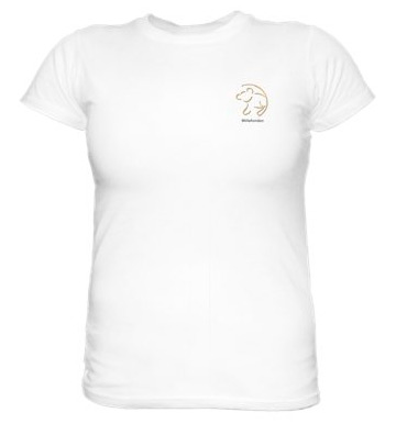 T-Shirt with small print. Ladies