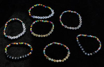 Bracelets red/silver