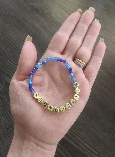 Bracelets blue/gold