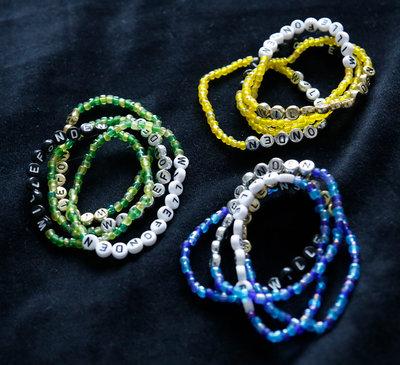 Bracelets Green/black