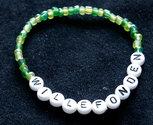 Bracelets Green/white