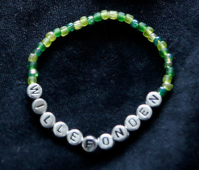 Bracelets Green/silver