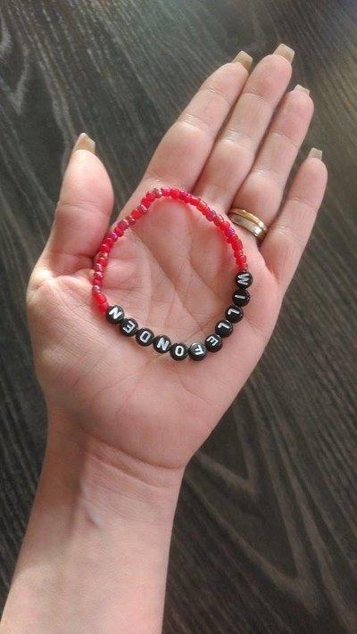 Bracelets red/gold