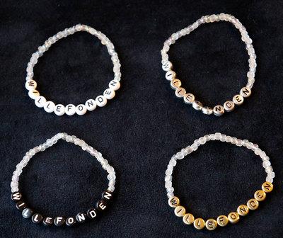 Bracelets white/gold
