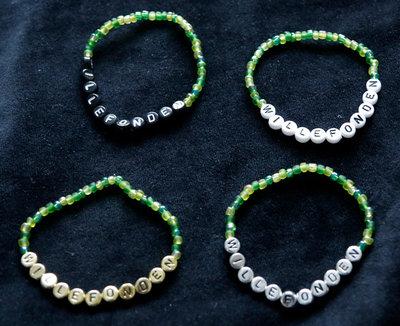 Bracelets green/gold