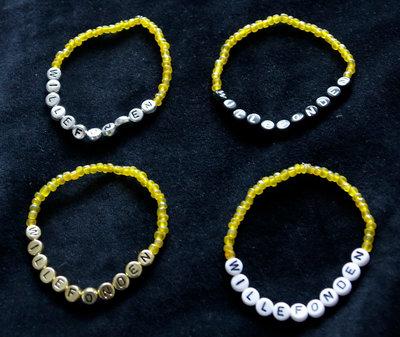 Bracelets yellow/white
