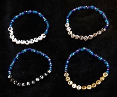 Bracelets blue/silver